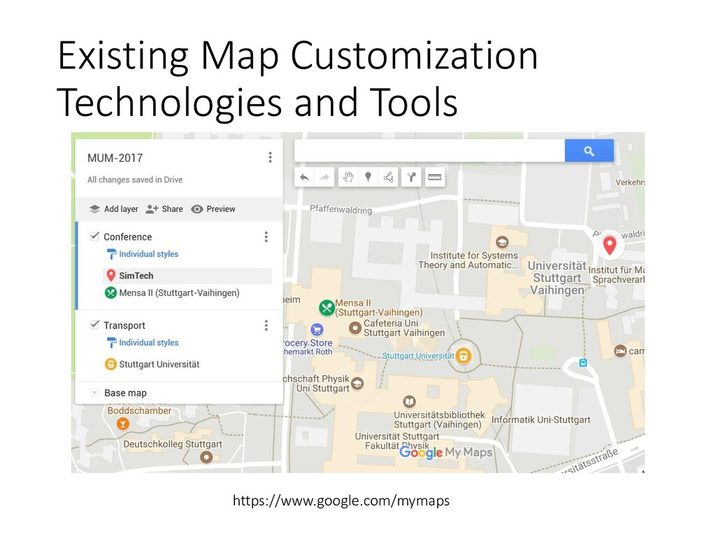 Existing Map Customization Technologies and Too...
