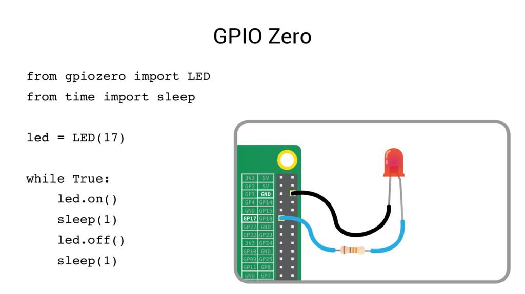 GPIO Zero from gpiozero import LED from time im...