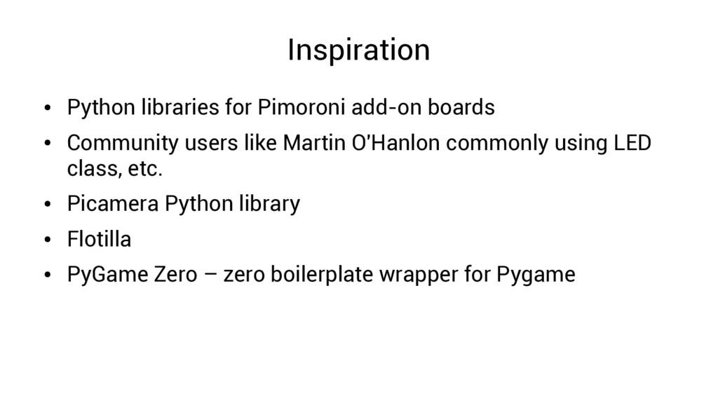 Inspiration ● Python libraries for Pimoroni add...