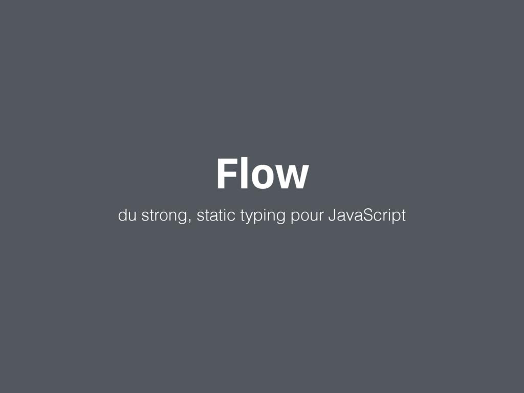 Flow du strong, static typing pour JavaScript