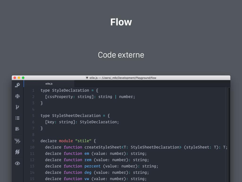 Flow Code externe