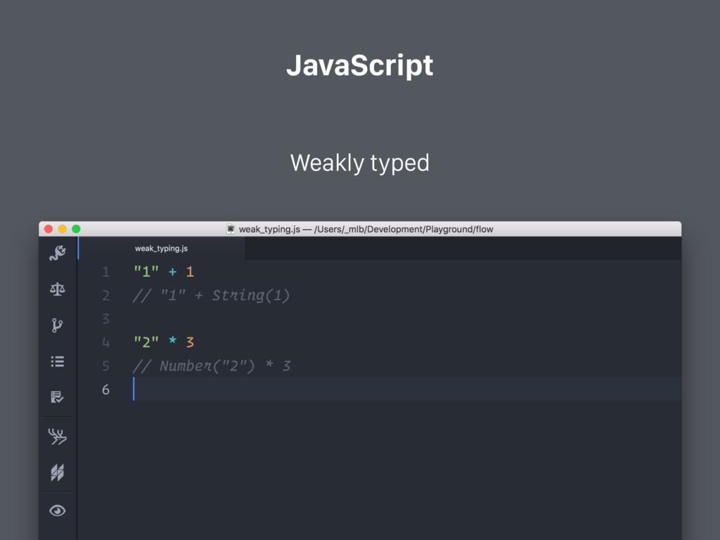 JavaScript Weakly typed