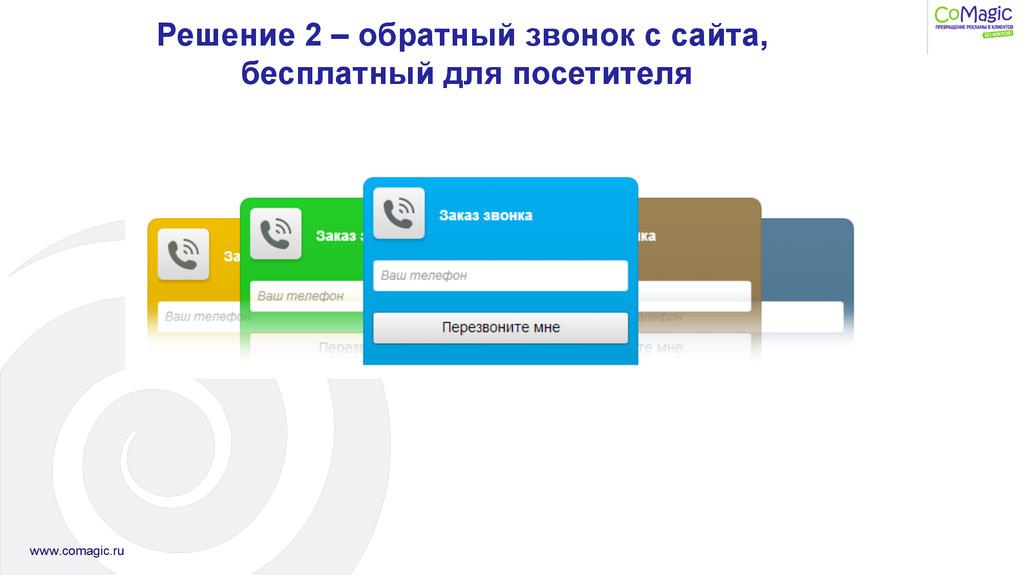 Решение 2 – обратный звонок с сайта, бесплатный...