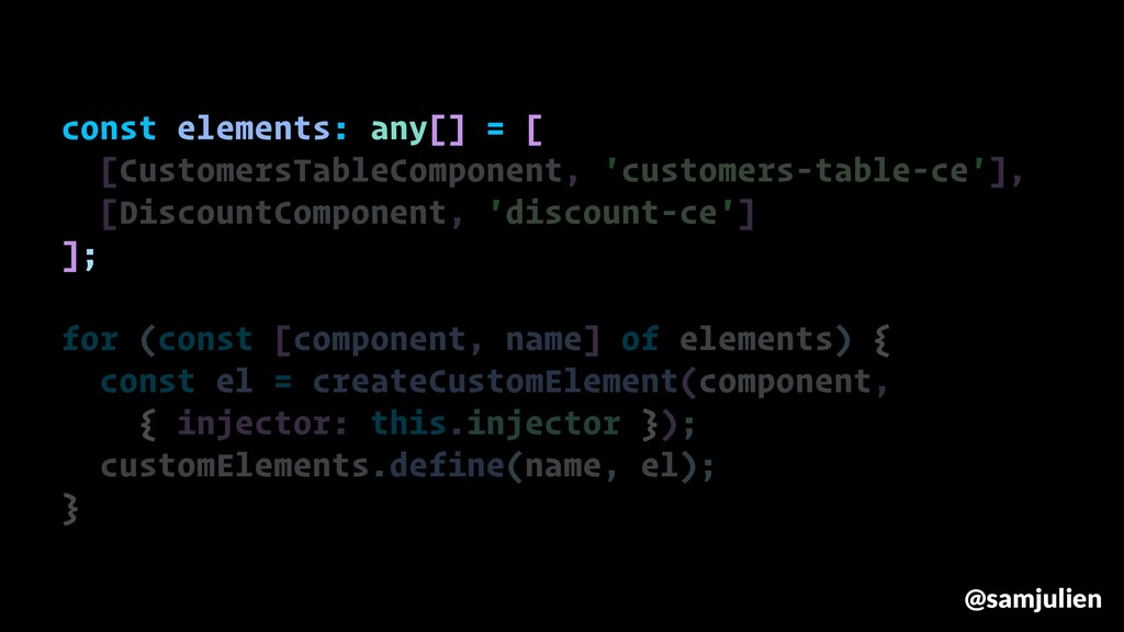 const elements: any[] = [ [CustomersTableCompon...
