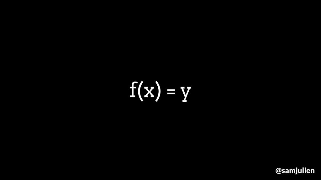 f(x) = y @samjulien