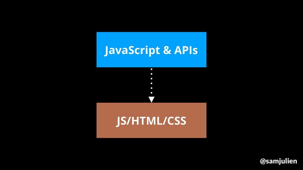 JS/HTML/CSS JavaScript & APIs @samjulien
