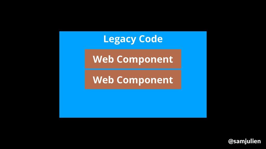 Legacy Code Web Component Web Component @samjul...