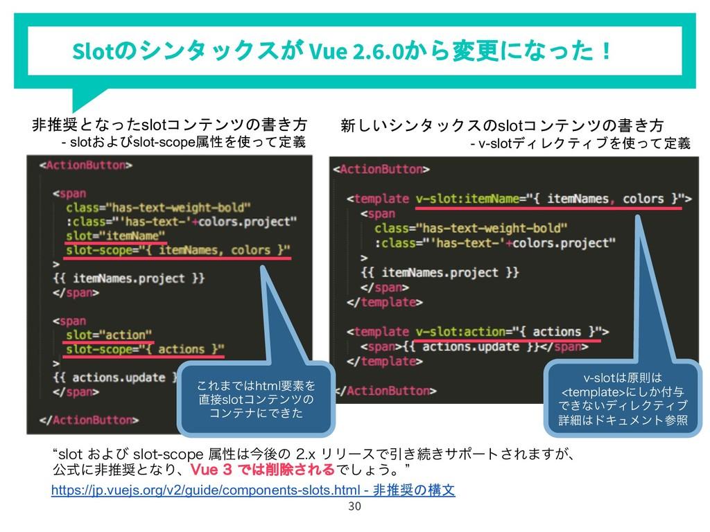 Slot Vue 2.6.0 ). 30 lTMPU͓Αͼ TM...