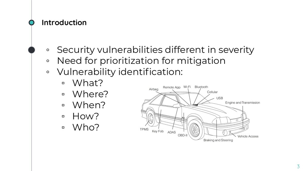 Introduction ◦ Security vulnerabilities differe...