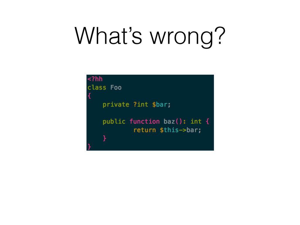 What's wrong?