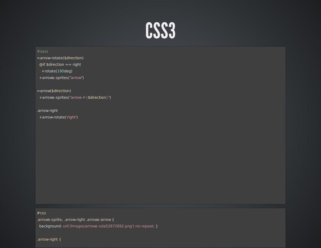 CSS3 #sass =arrow-rotate($direction) @if $direc...
