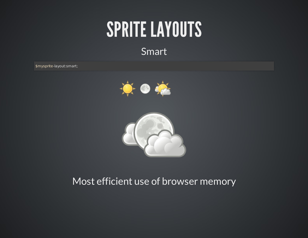 Most efficient use of browser memory SPRITE LAY...