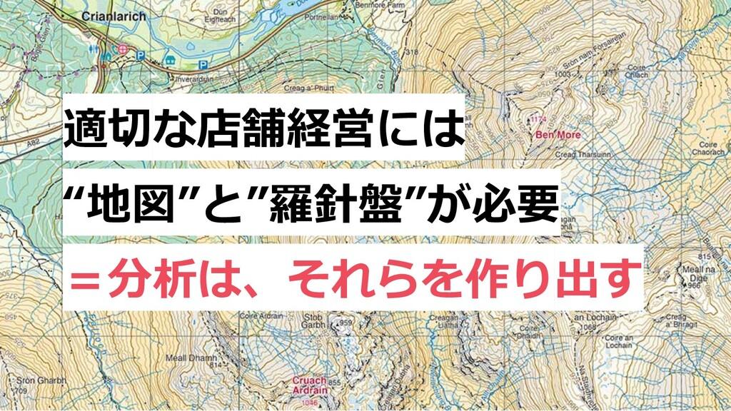 """適切な店舗経営には """"地図""""と""""羅針盤""""が必要 =分析は、それらを作り出す"""