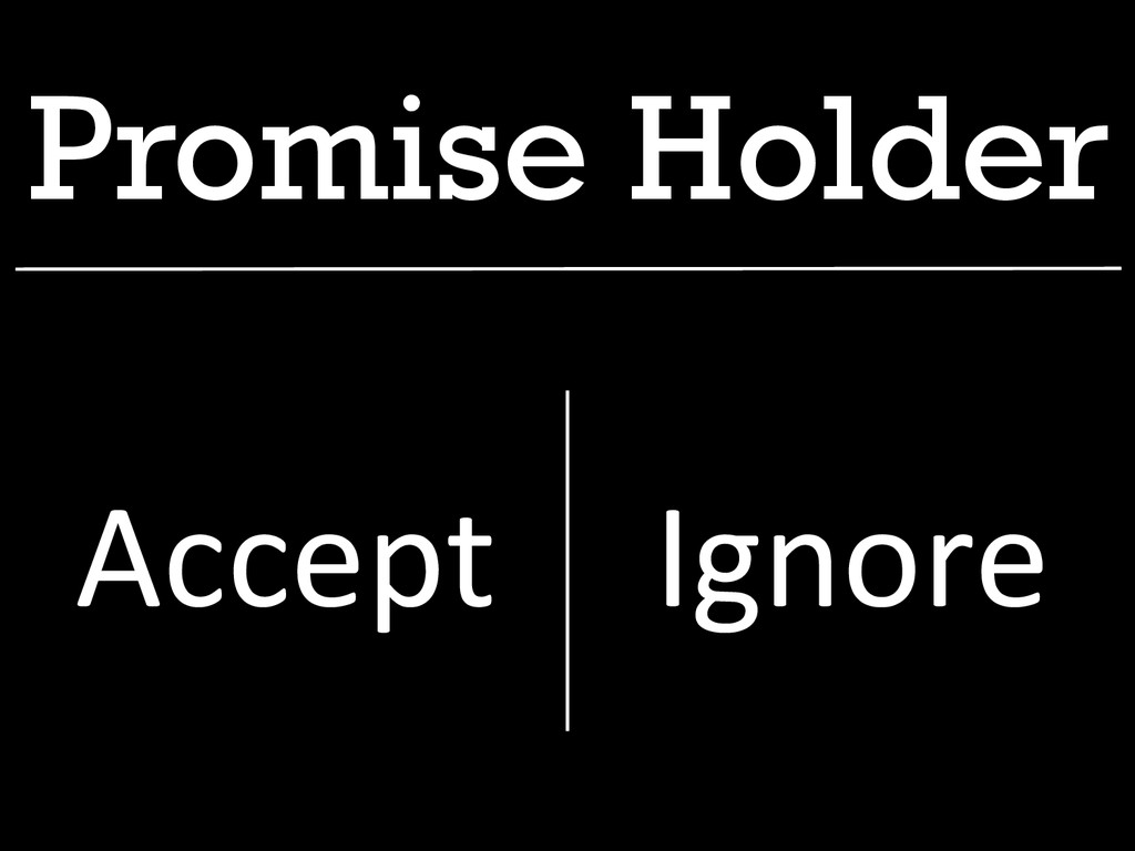 Promise Holder Accept  Ignore