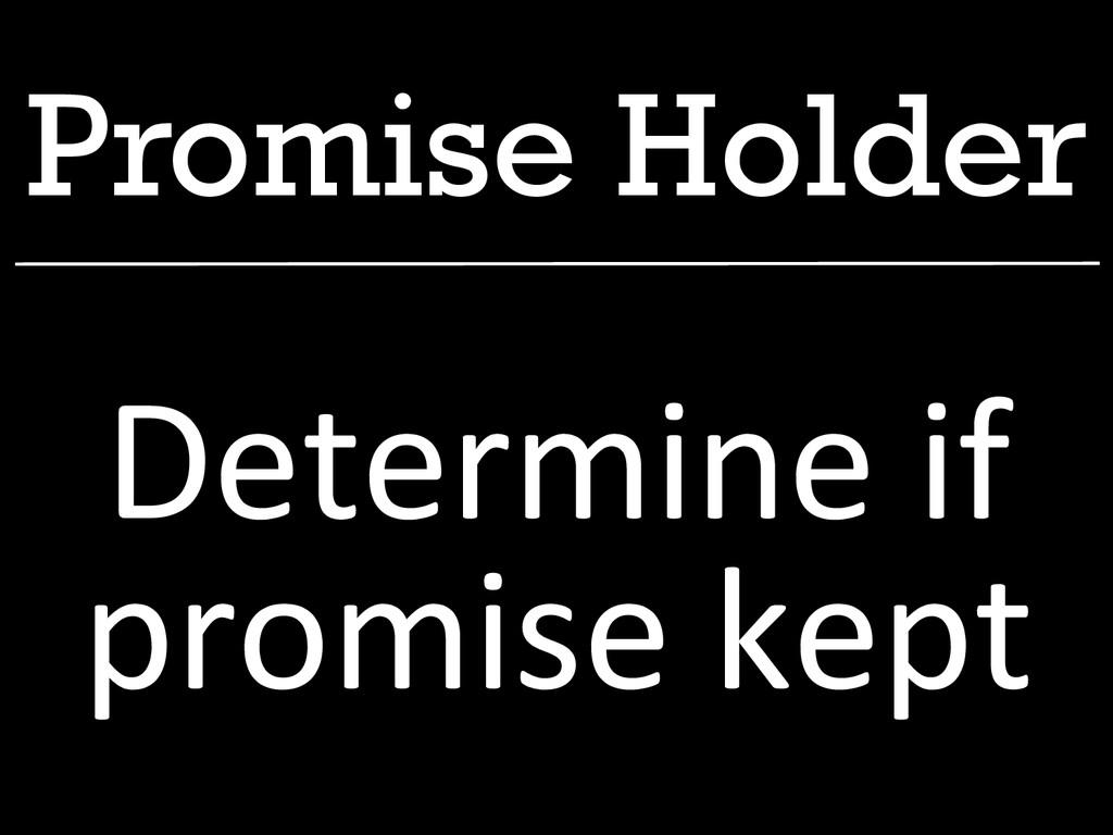 Promise Holder Determine if  promise k...