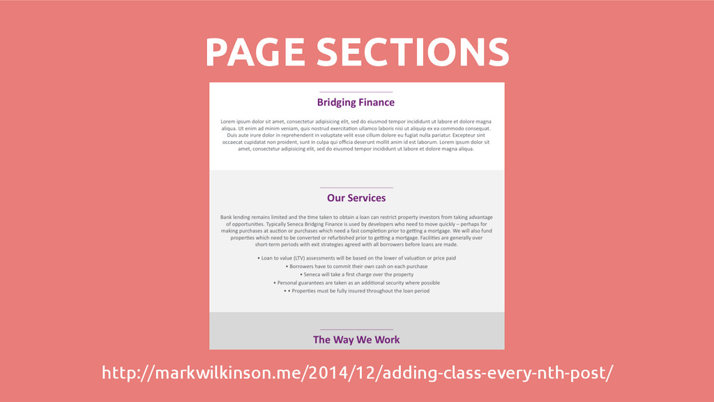 PAGE SECTIONS http://markwilkinson.me/2014/12/a...