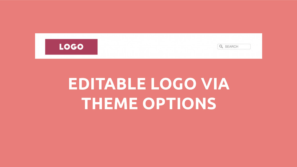 EDITABLE LOGO VIA THEME OPTIONS
