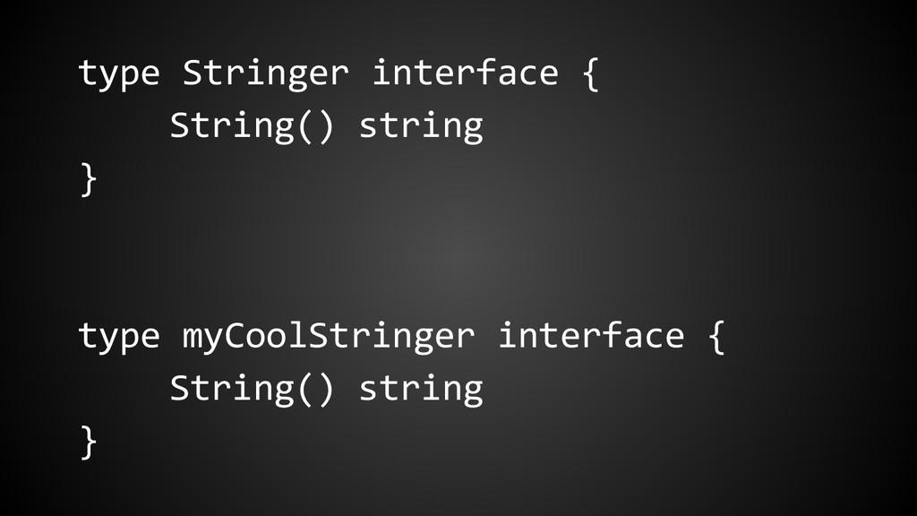 type Stringer interface { String() string } typ...