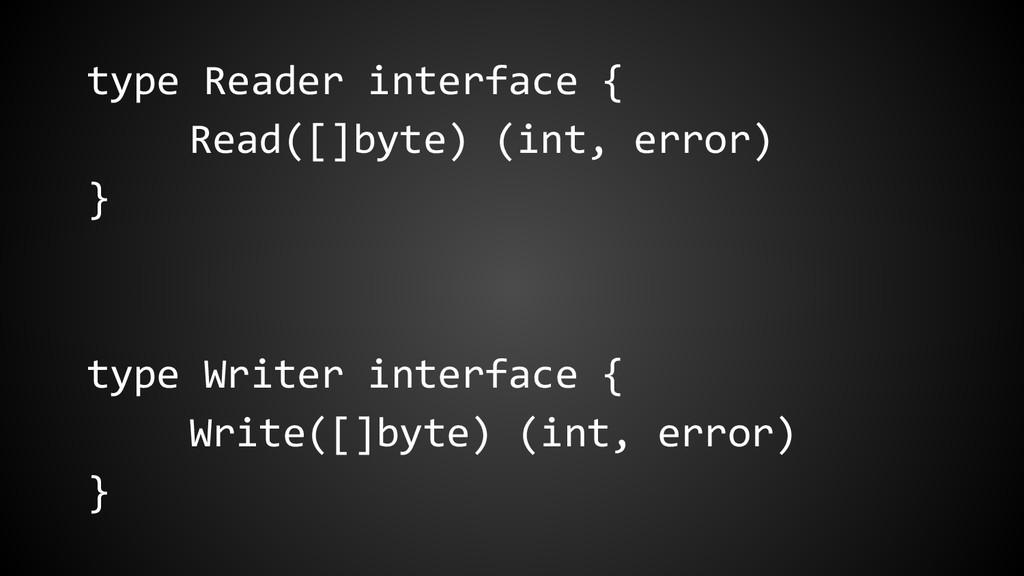 type Reader interface { Read([]byte) (int, erro...