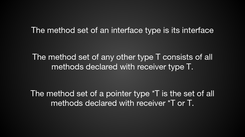 The method set of any other type T consists of ...