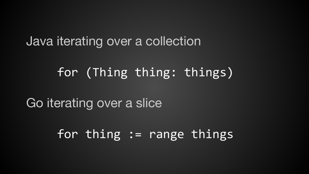 Java iterating over a collection for (Thing thi...