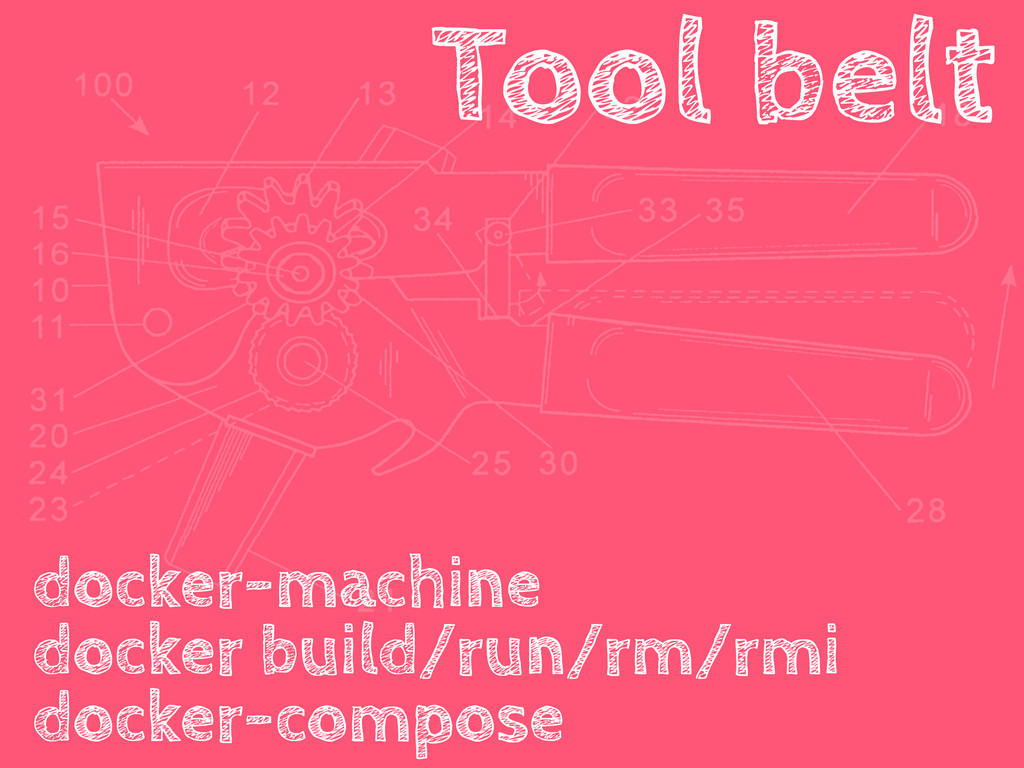 Tool belt docker-machine docker build/run/rm/rm...