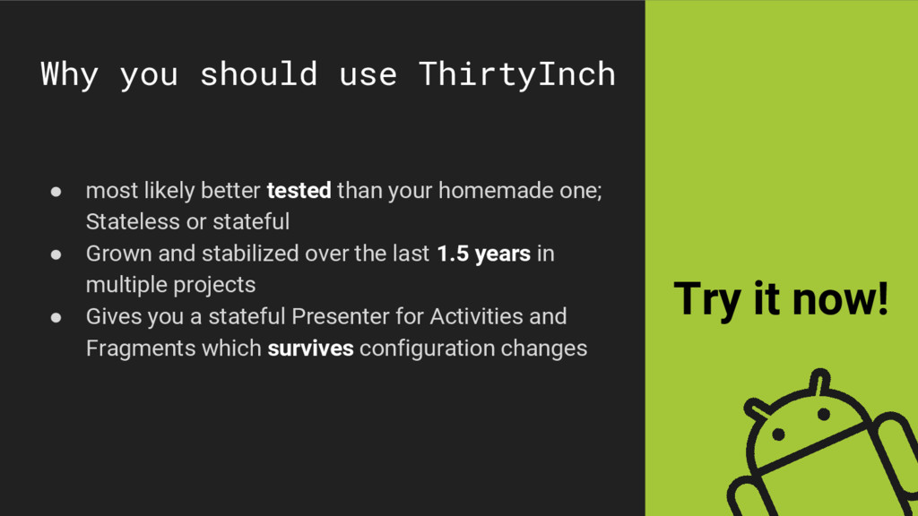 Why you should use ThirtyInch ● most likely bet...