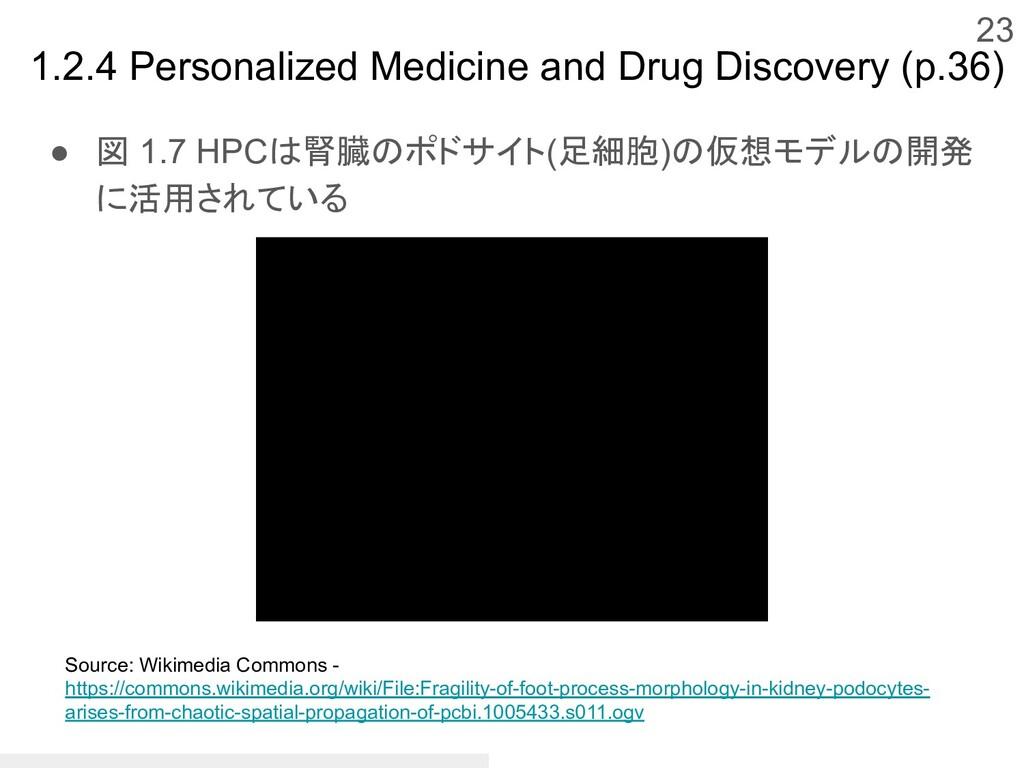 ● 図 1.7 HPCは腎臓のポドサイト(足細胞)の仮想モデルの開発 に活用されている 23 ...