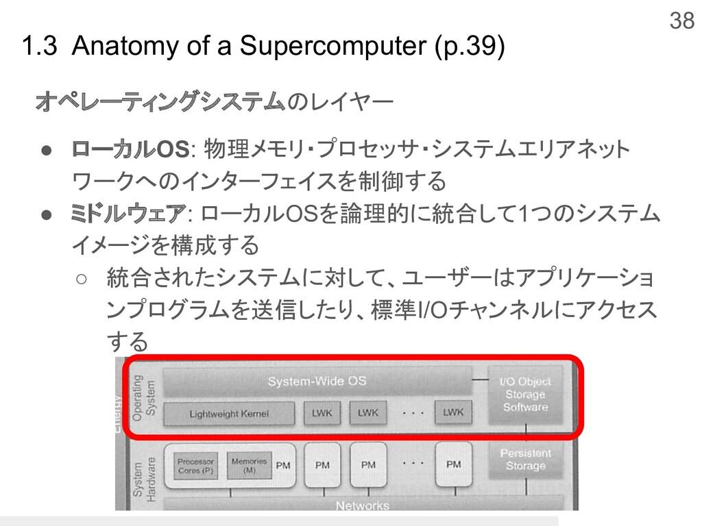 38 1.3 Anatomy of a Supercomputer (p.39) オペレーティ...