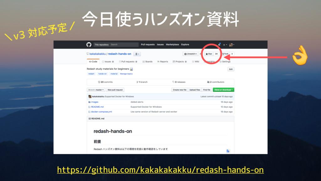 今日使うハンズオン資料 https://github.com/kakakakakku/reda...