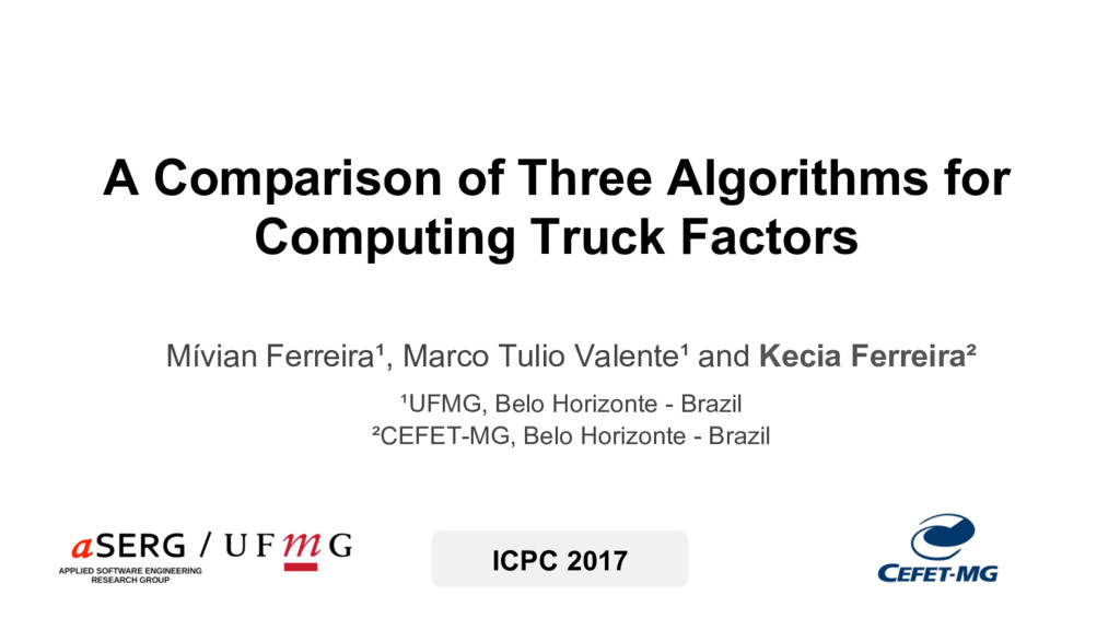 A Comparison of Three Algorithms for Computing ...