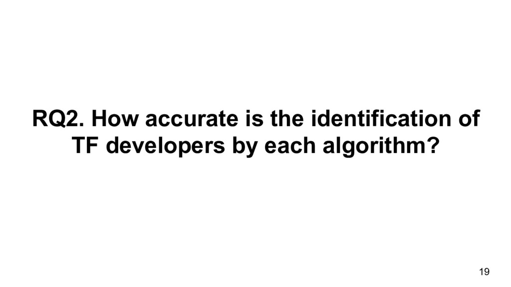 RQ2. How accurate is the identification of TF d...