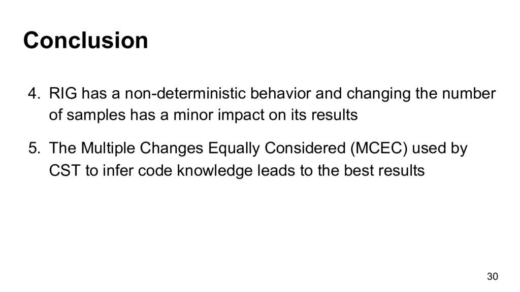 Conclusion 30 4. RIG has a non-deterministic b...