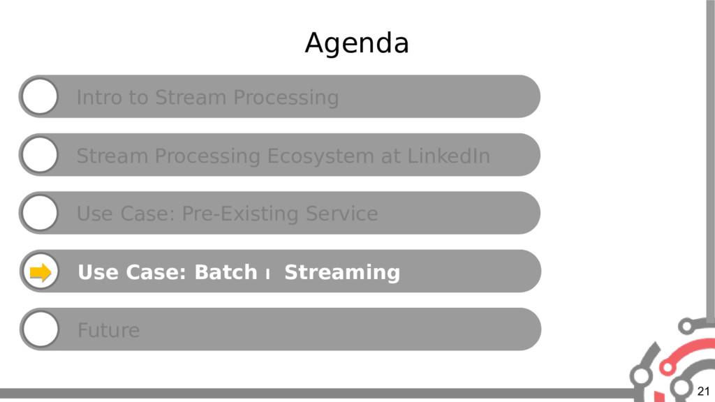 21 Agenda Intro to Stream Processing Stream Pro...