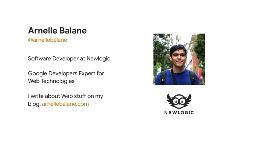 Arnelle Balane Software Developer at Newlogic G...