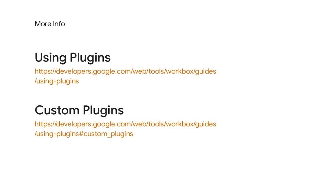 Custom Plugins https://developers.google.com/we...