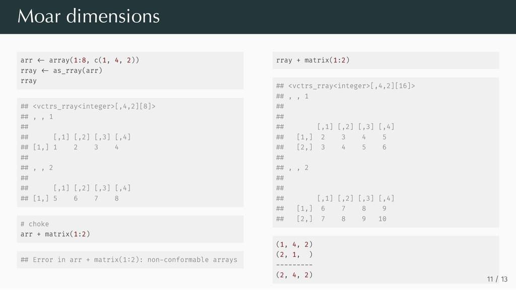 arr array(1:8, c(1, 4, 2)) rray as_rray(arr) rr...