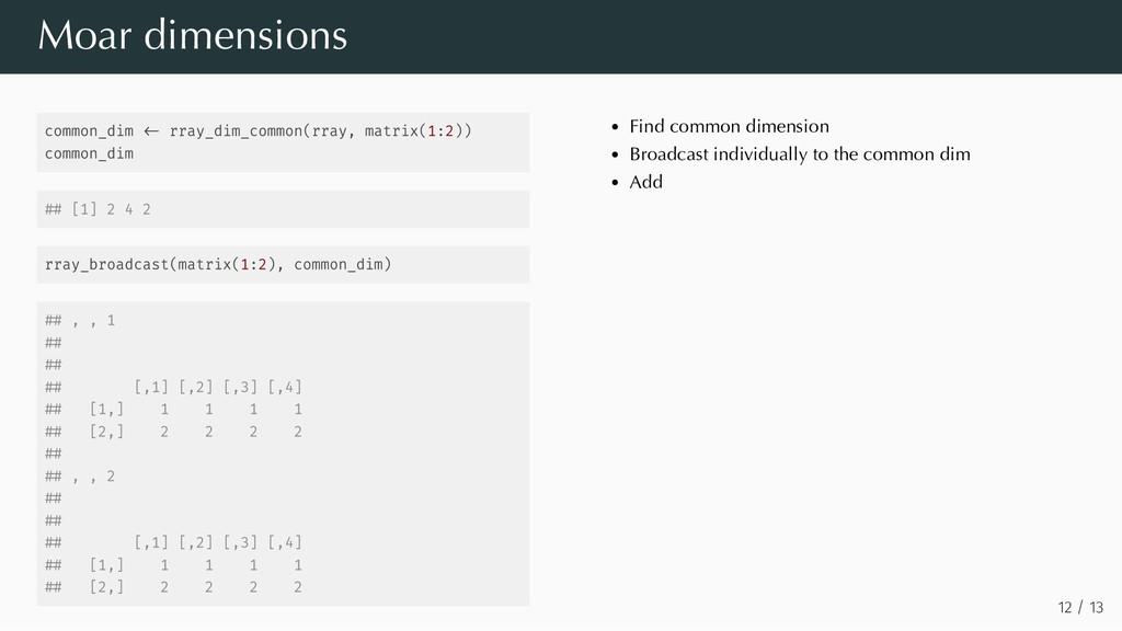 common_dim rray_dim_common(rray, matrix(1:2)) c...