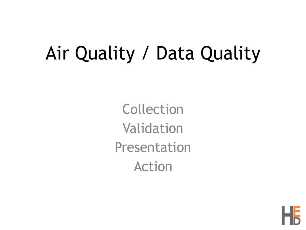 Air Quality / Data Quality Collection Validatio...