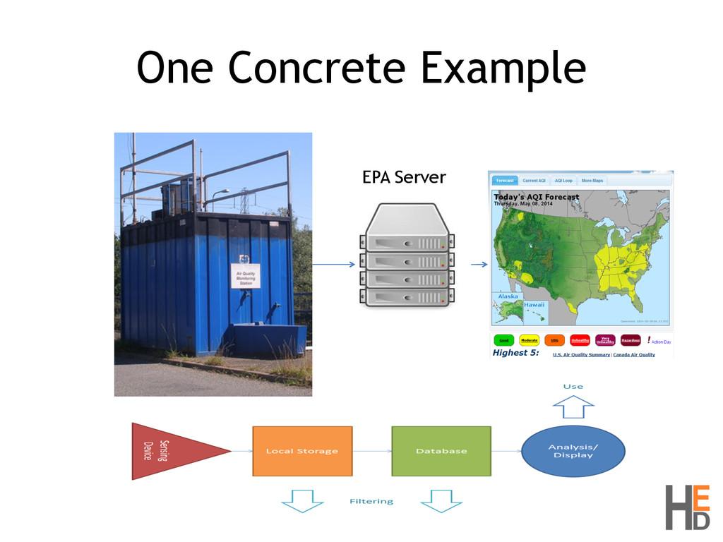 One Concrete Example EPA Server
