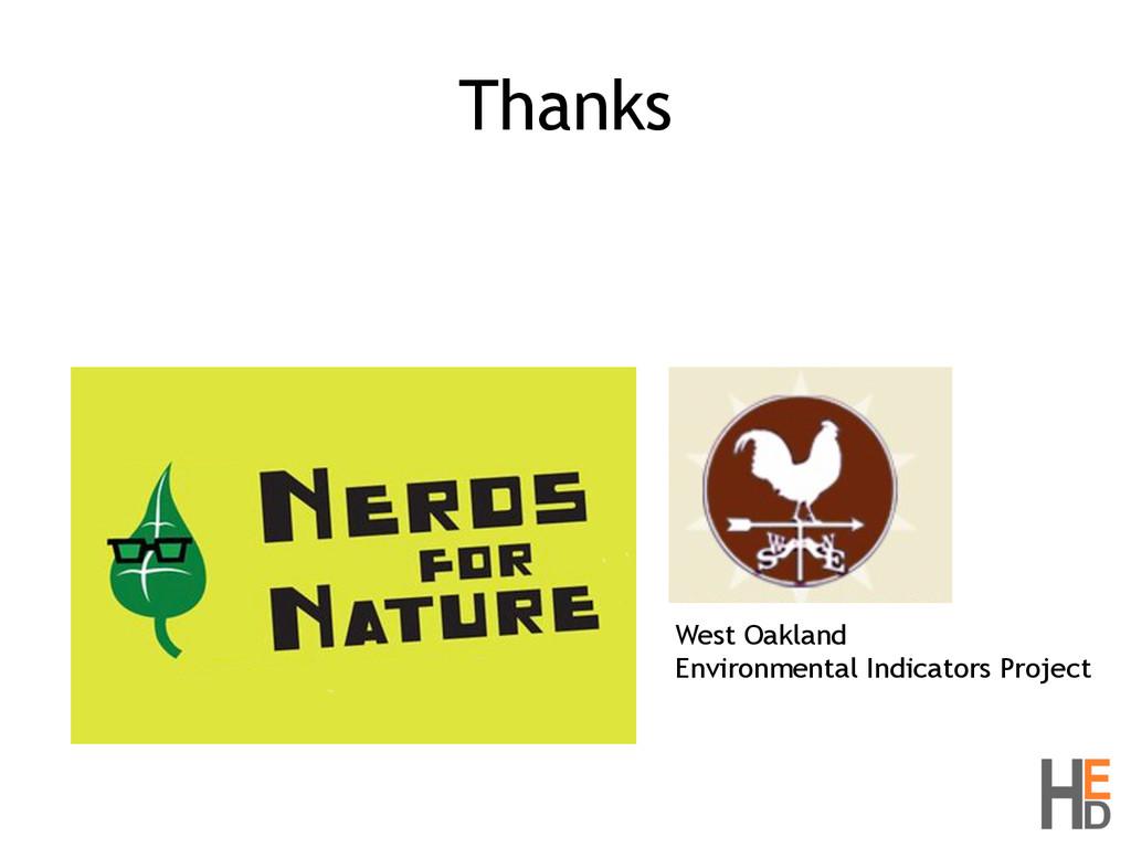 Thanks West Oakland Environmental Indicators Pr...