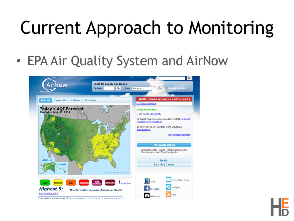 Current Approach to Monitoring • EPA Air Qualit...