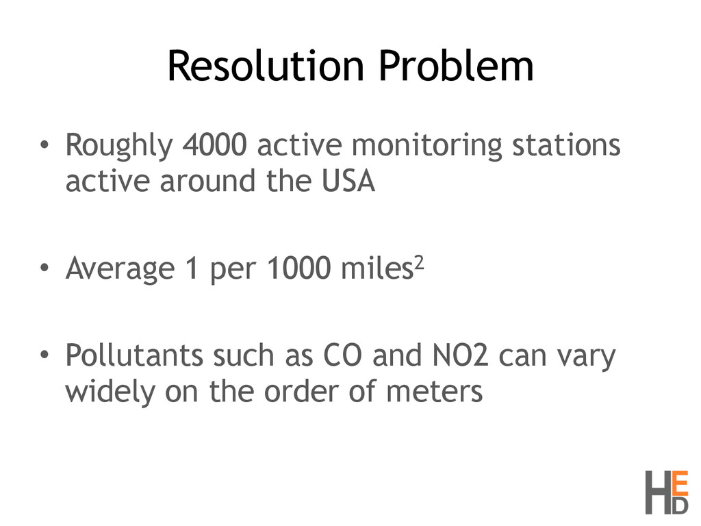 Resolution Problem • Roughly 4000 active monito...