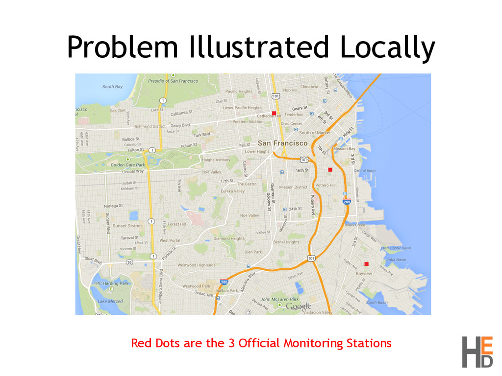 Problem Illustrated Locally Red Dots are the 3 ...