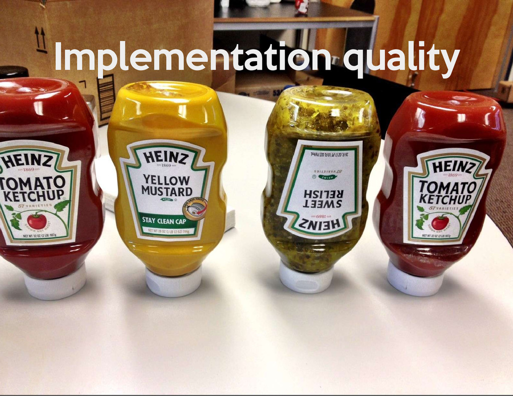 Implementation quality