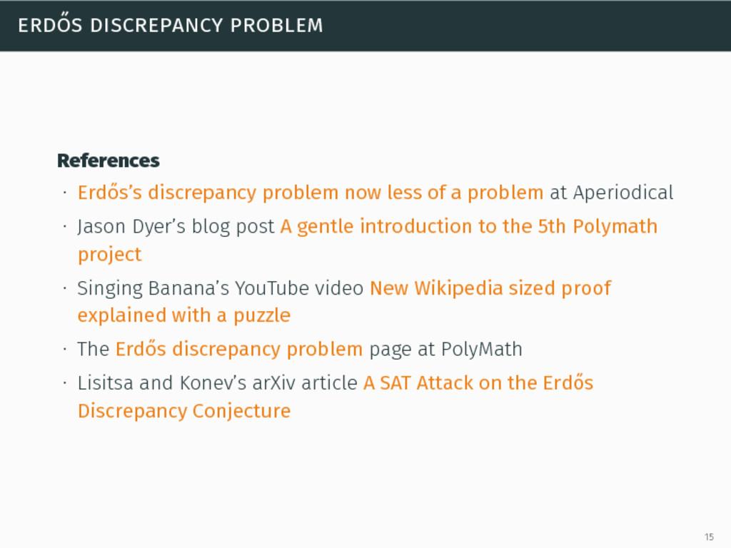 erdős discrepancy problem References ∙ Erdős's ...