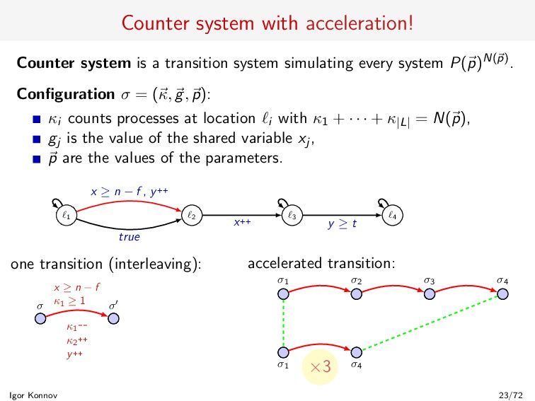Counter system with acceleration! Counter syste...
