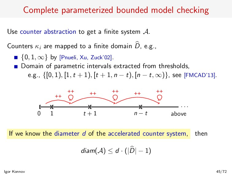 Complete parameterized bounded model checking U...