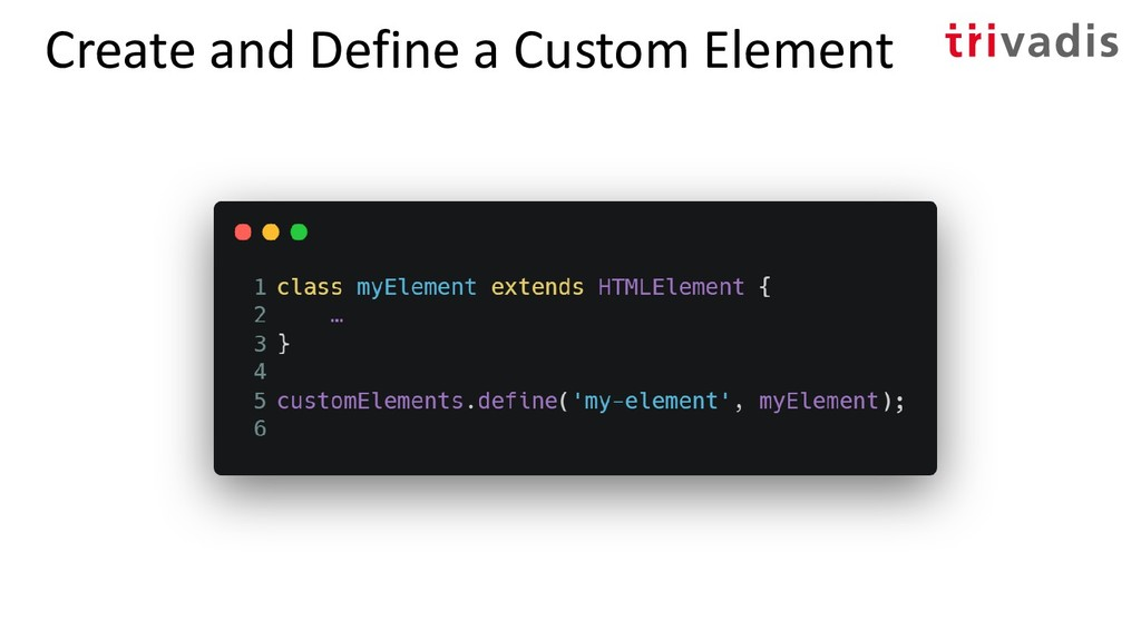 Create and Define a Custom Element