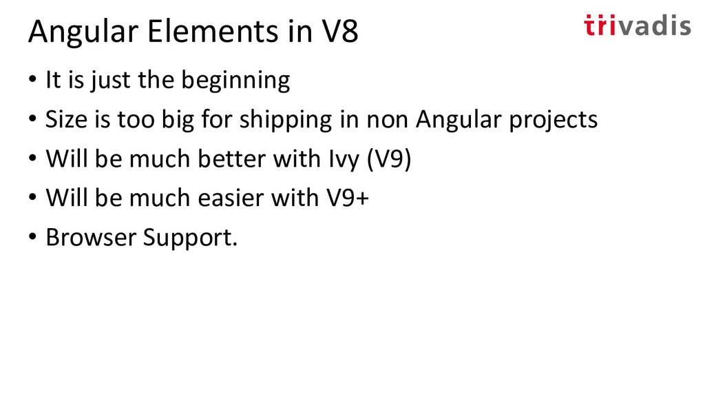 Angular Elements in V8 • It is just the beginni...